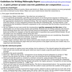 Paper Writing Guidelines