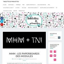 MHM : les paperboards des modules