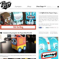 Camion de pompier de PaperBoxWorld