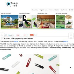 DATA clip – USB paperclip for Elecom on DesignRulz