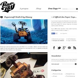 Papercraft Wall-E by Disney