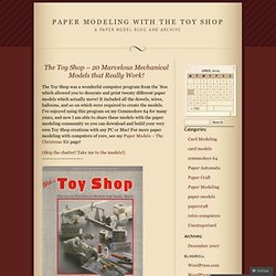 papercraft « Paper Modeling With The Toy Shop