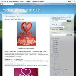 Sliceform Heart Table Decoration