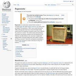 Papercrete - Wikipedia Entry