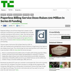 Paperless Billing Service Doxo Raises $10 Million In Series B Funding