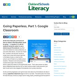Going Paperless, Part 1: Google Classroom