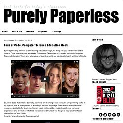 Purely Paperless: Hour of Code: Computer Science Education Week