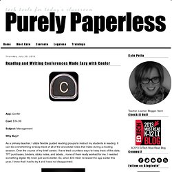 Purely Paperless: Reading and Writing Conferences Made Easy with Confer