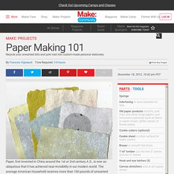 Papermaking 101 & DIY Mold & Deckle