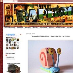 PAPERMAU: SpongeBob SquarePants - Gary Paper Toy - by Ddi7i4d