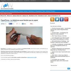 PaperPhone - Le téléphone aussi flexible que du papier