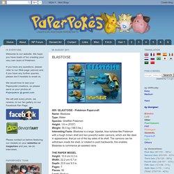 Paperpokés - Pokémon Papercraft: BLASTOISE