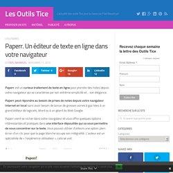 Paperr. Un éditeur de texte en ligne dans votre navigateur