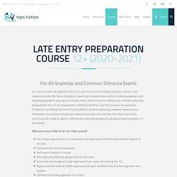 Grammar And Common Entrance Exams