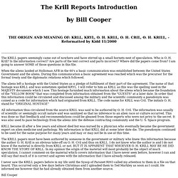Krill Papers, Introduction, UFO Casebook Files