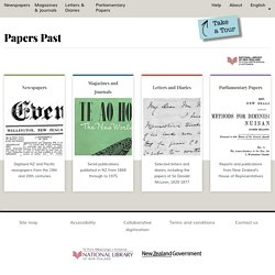 Papers Past - search newspaper articles from 1915 through to 1945