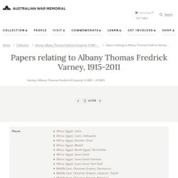 Papers relating to Albany Thomas Fredrick Varney, 1915-2011