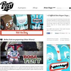 Boba Fett en papertoy (Star Wars