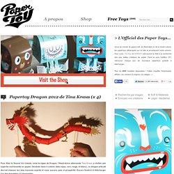 Papertoy Dragon 2012 de Tina Kraus (x 4