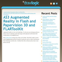 AS3 Augmented Reality in Flash and Papervision 3D a