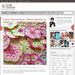 Crochet | Pattern | Tutorial | Paperweight Granny African Flower
