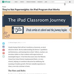 They're Not Paperweights: An iPad Program that Works