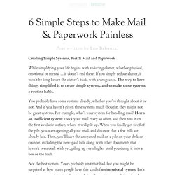 6 Simple Steps to Make Mail & Paperwork Painless