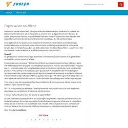 Papier avion soufflerie - tubefr.com