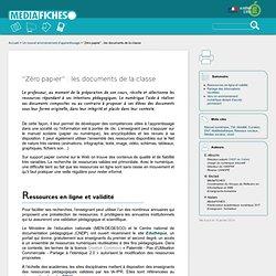 """""""Zéro papier"""" : les documents de la classe"""