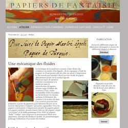 Papier Marbré - atelier