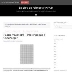 Papier millimétré - Papier pointé à télécharger