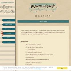 Papier Musique – Le diapason