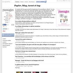 Papier, blog, tweet et tag