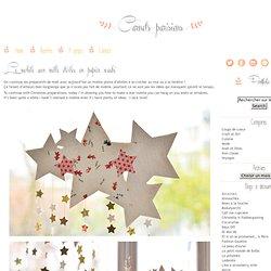 Mobile étoilé en papiers washi pour Noël