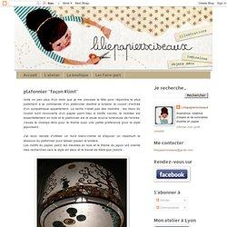 """plafonnier """"façon Klimt"""""""