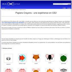 Papiers-Crayons : une expérience en CE2