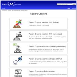 Papiers Crayons - aborder la géométrie par le dessin