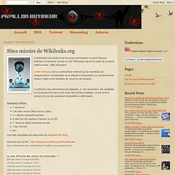 Sites miroirs de Wikileaks.org