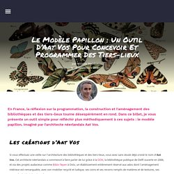 Le modèle papillon : un outil d'Aat Vos pour concevoir et programmer des tiers-lieux – Nicolas Beudon