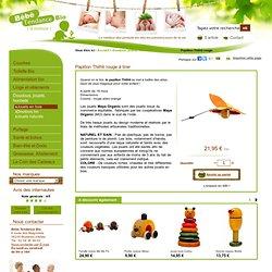 Papillon Thithli rouge - Bébé Tendance Bio : la Sélection bio
