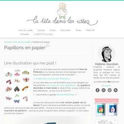 Papillons en papier - La tête dans les idées