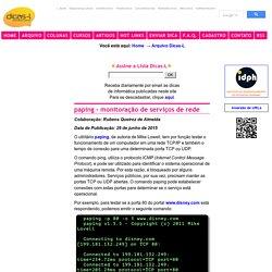 paping - monitoracao de servicos de rede