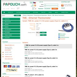 Papouch > Product > TME - Ethernet Thermometer