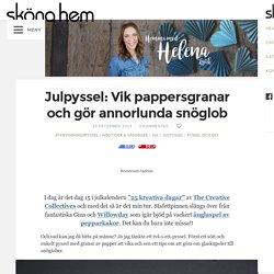 Julpyssel: Vik pappersgranar och gör annorlunda snöglob – Hemma med Helena