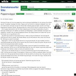 Pappersväggar - Svenskanoveller Wiki