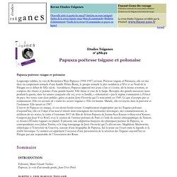 Vol 48-49 : Papusza poétesse tsigane et polonaise