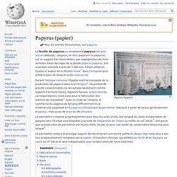 Papyrus (papier)