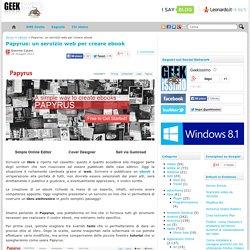 Papyrus: un servizio web per creare ebook