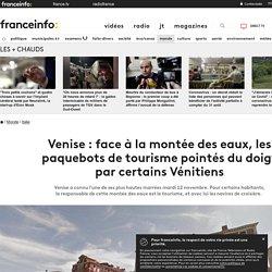 Venise : face à la montée des eaux, les paquebots de tourisme pointés du doigt par certains Vénitiens