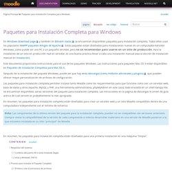 Paquetes para Instalación Completa para Windows